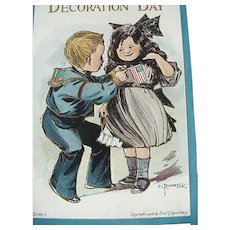 Decoration Day Postcard The Blue and The Gray Artist Signed C Bunnell Series 2083-1
