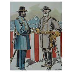 Decoration Day Lee And Grant Postcard Artist Signed By Bunnell Series 2083-2