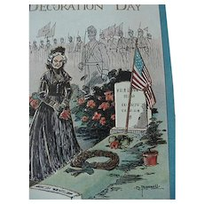 Decoration Day Postcard They Gave Their All Artist Signed C Bunnell Series 2083-3