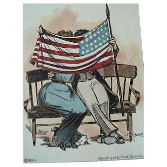 Decoration Day Postcard Story Of The Flag Artist Signed C Bunnell Series 2083-4