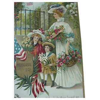 Patriotic Memorial Day Postcard Artist Chapman