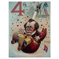 Ye Glorious 4th Postcard By Artist Bunnell