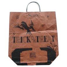 Vintage Sears Halloween Trick Or Treat Paper Bag