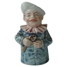 Vintage Majolica Chef Holding Spoon Still Bank
