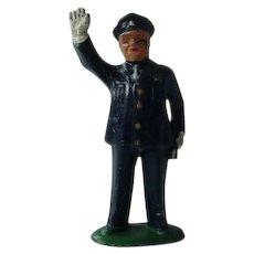 Vintage Barclay Policeman Metal Figurine #850