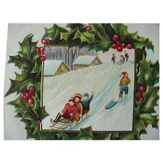 Scenic Christmas Postcard Lot Of 3