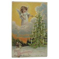 Fröhliche Weihnachten Postcard German For Merry Christmas