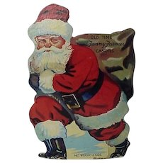 Vintage Old Time Fanny Farmer Candies Santa Container
