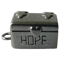 Sterling Silver Hope Chest Opens To Reveal Groom Inside Charm