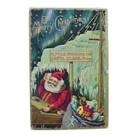 Santa N.Pole Wireless Co Telegraph Christmas Postcard