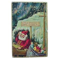 Santa N.Pole Wireless Co Telegraph Christmas Postcard