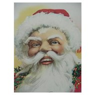 To Wish You A Merry Christmas Smiling Santa Postcard