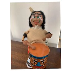 Louis Marx Indian Beats Drum Wind Up Toy