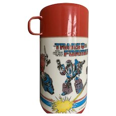 Aladdin 1987 Transformers Thermos