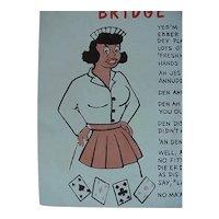 Black Americana Bridge Party Komic Kard Postcard