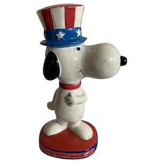 Patriotic Snoopy Figurine 1972