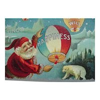 Santa Goodwill Happiness Christmas Postcard