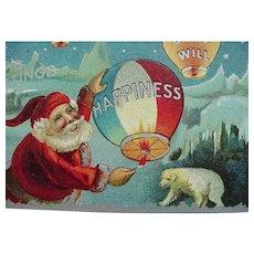 Santa Goodwill Happiness Christmas Postcard