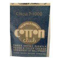 Black Americana Cotton Club Matchbook Holder