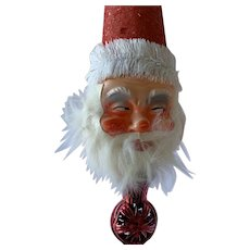 Santa Celluloid Face Tree Topper 50s