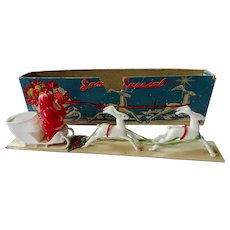 Rosen Christmas Santa Sleigh Candy Container with Box