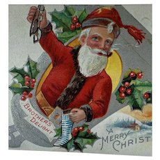 Brother's Delight Santa Christmas Postcard