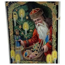 Father Christmas Santa Gel Postcard Leaving Toys