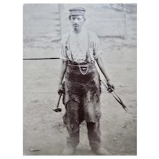 Tintype Occupational Blacksmith Taken Outside