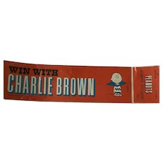Vintage Charlie Brown and Linus Bumper Stickers 1968