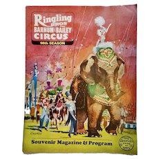Ringling Bros and Barnum & Bailey Circus 98th Season Souvenir Magazine 1968