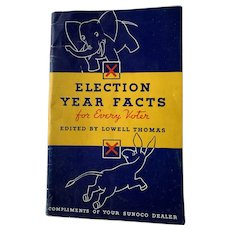 Election Year Facts 1936 Sunoco Oil Edited By Lowell Thomas