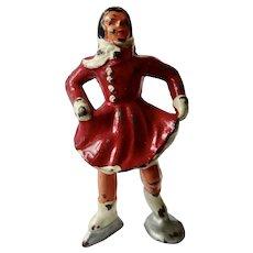 Vintage Barclay Manoil Figurine Woman Skater