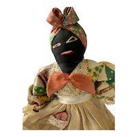 Black Folk Art Bell Doll
