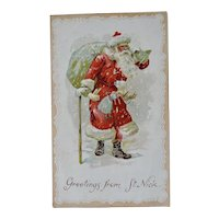 Greetings From St Nick Christmas Postcard