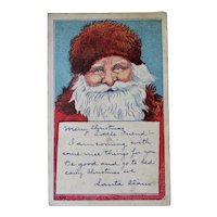 A Message From Santa Postcard