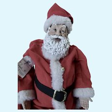 Daddy Long Leg Santa Doll By Karen Germany