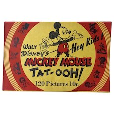 Mickey Mouse Tat-Ooh Booklet By Walt Disney 1940s