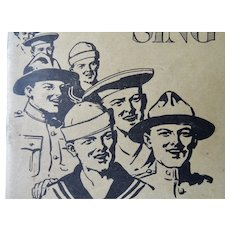 Songs the Soldiers and Sailors Sing Pocket Booklet 1918