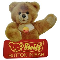 Steiff Bear Advertising Sign 2 Sided