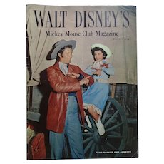 Walt Disney's Mickey Mouse Club Magazine Summer 1956 Fess Parker And Annette Funicello