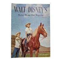 Walt Disney's Mickey Mouse Club Magazine Spring 1956