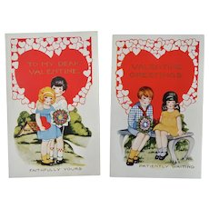 To My Dear Valentine Valentine Greetings Postcard Lot of 2