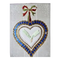 Hold To Light Valentine Postcard