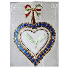 Hold To Light Valentine Postcard