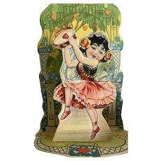 Girl Dancing For Joy Valentine  Pop Up Card