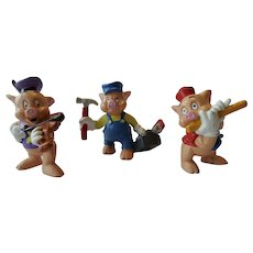 Disney 3 Little Pigs Figurine Bullyland Made In Germany