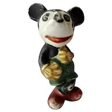 Mickey Mouse Shelf Sitter Bisque Figurine Made In Japan