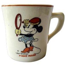 Walt Disney Minnie Mouse 1930s Ceramic Mug Cup By Patriot China