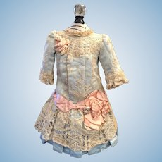 Ice Blue Lace Bebe Dress