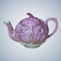 Old Pink and White with Gold Teapot